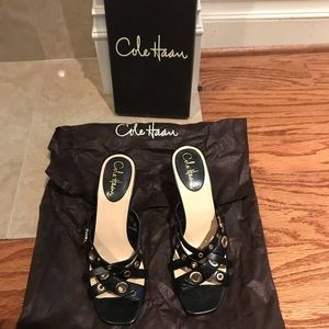 Cole Haan Brand New Grommet Leather Sandals